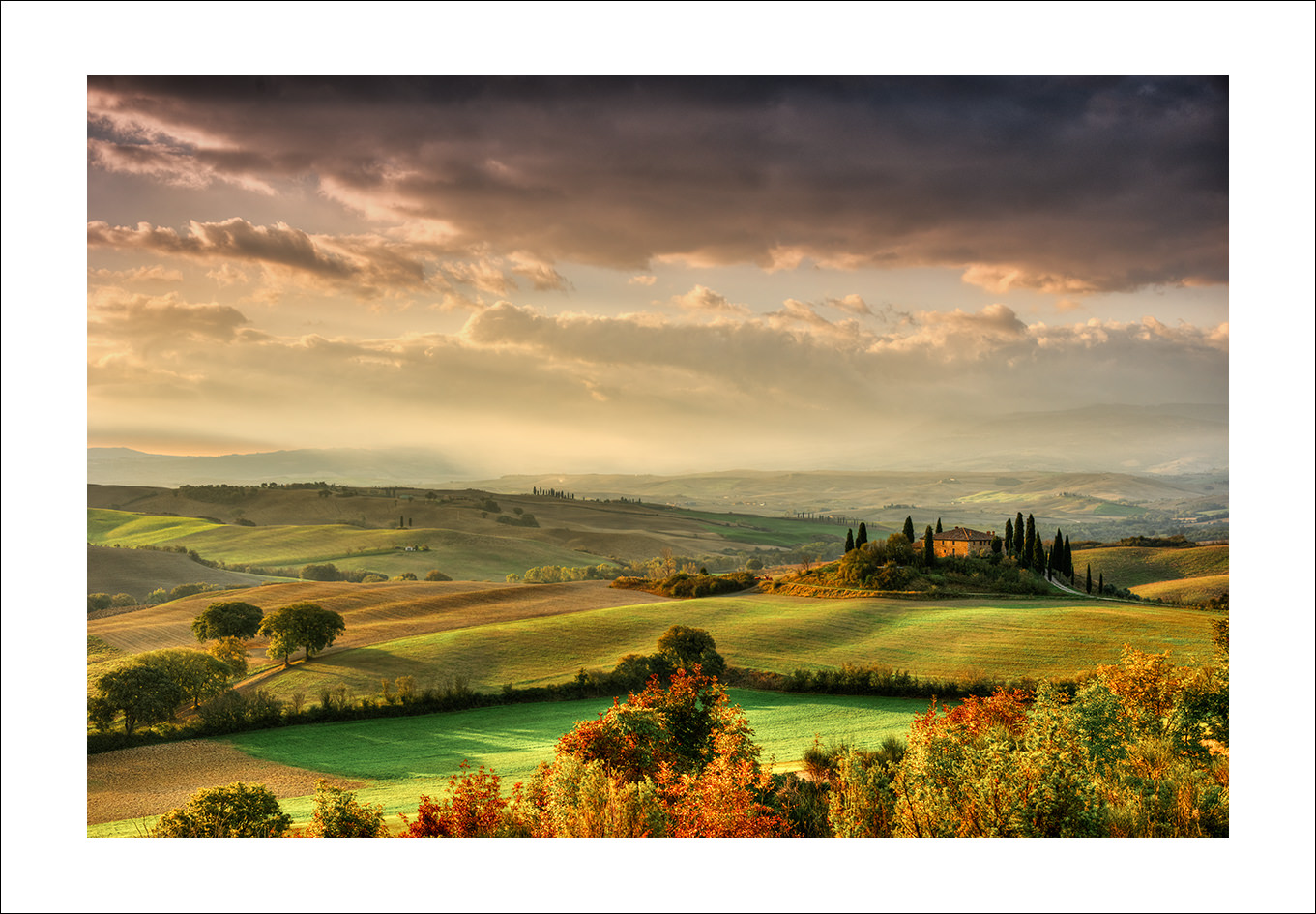Val d'Orcia view, Belvedere, Tuscany