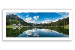 pano print of Misurina lake, dolomites