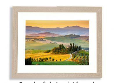 fine art photo print framed