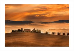 tuscany val d'Orcia print