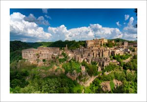 tuscan village Sorano photo print