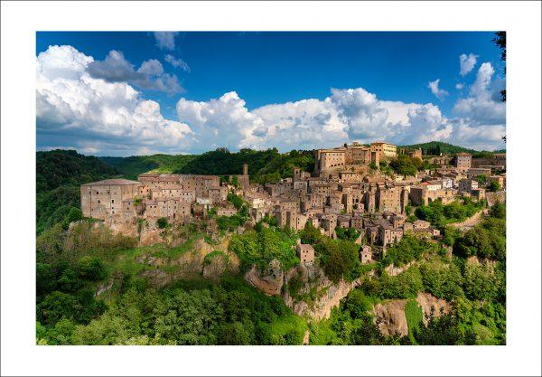 tuscan village Sorano photo print