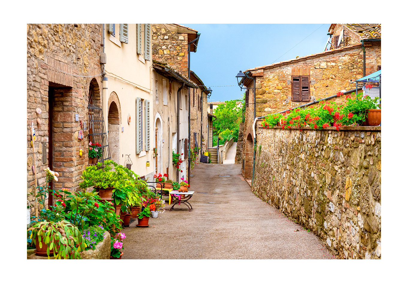 tuscany village photo print for sale