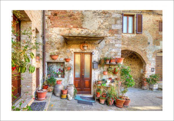 tuscan village door print for sale