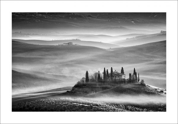 Black and white fine art print