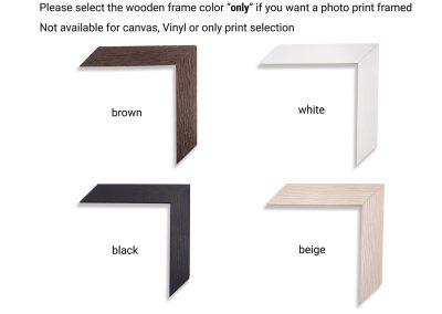 wooden frame for fine art photo prints